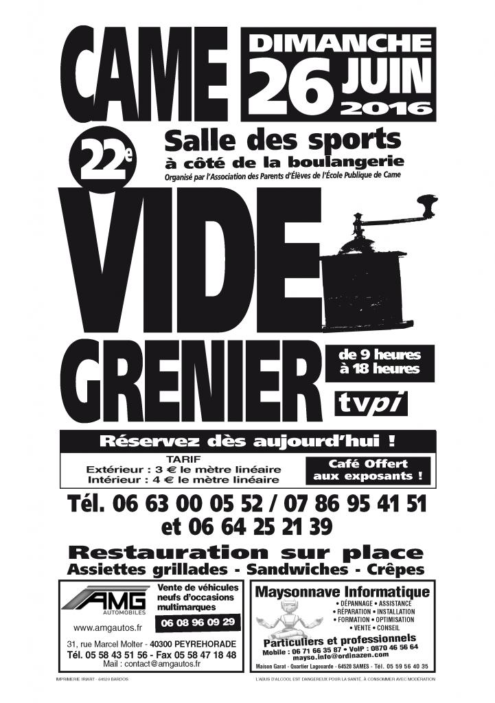 affiche-Vide-Grenier-Came-2016